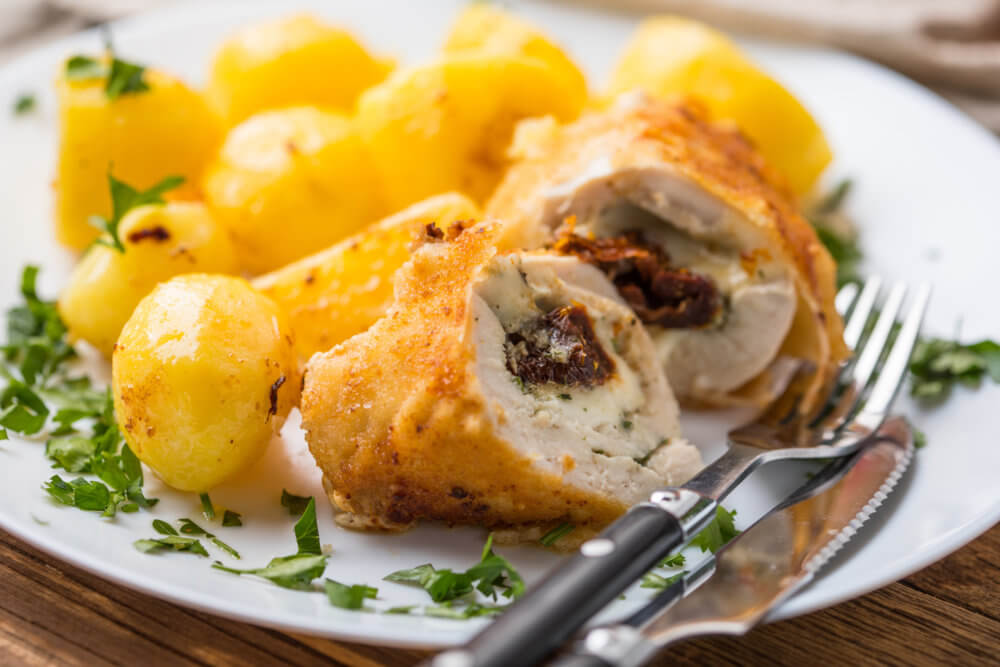 Stuffed Chicken Breast with Feta Cheese